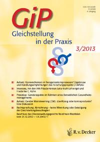 Titelseite von GiP / Gleichstellung in der Praxis